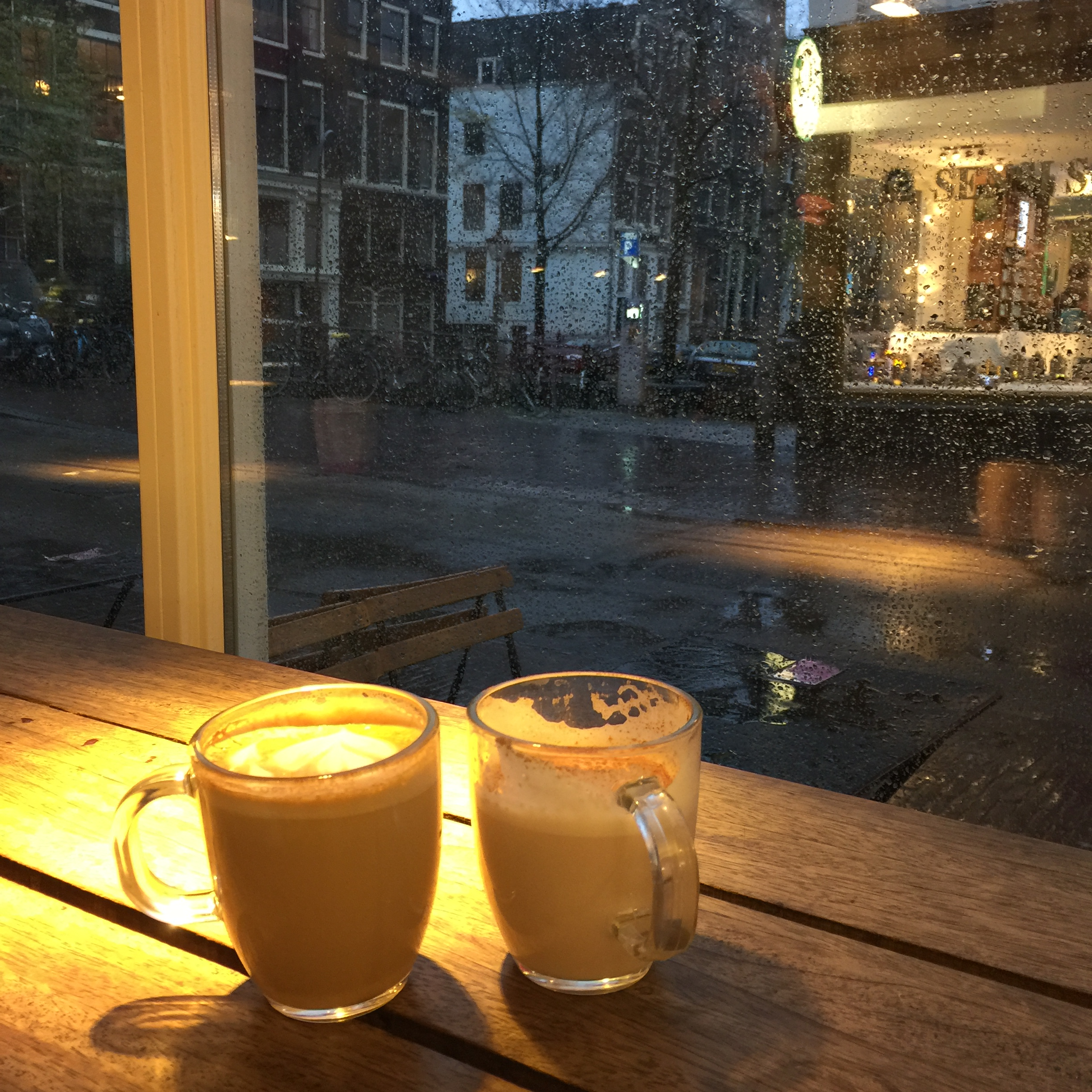 People watching in Amsterdam